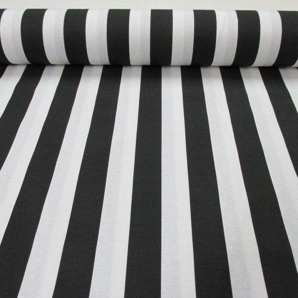 Black White Striped Fabric Sofia Stripes Curtain