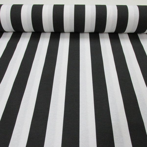 Black White Striped Fabric Sofia Stripes Curtain Upholstery