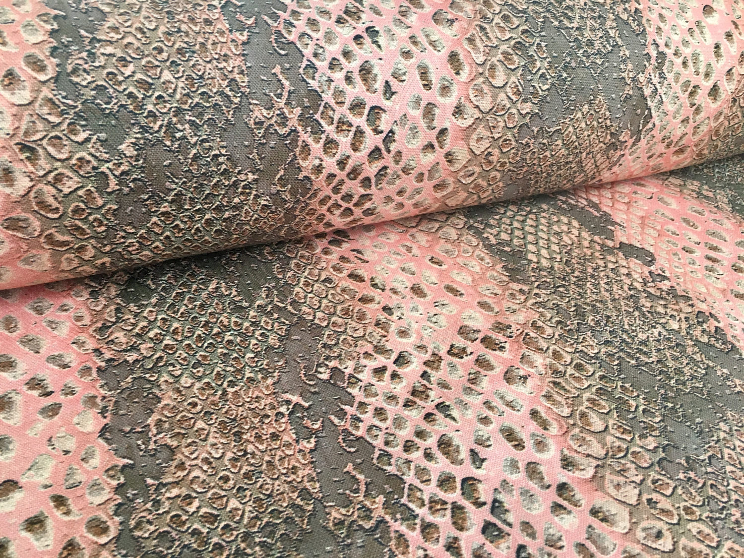 Coral Snake Skin Digital Curtain Upholstery Fabric Animal