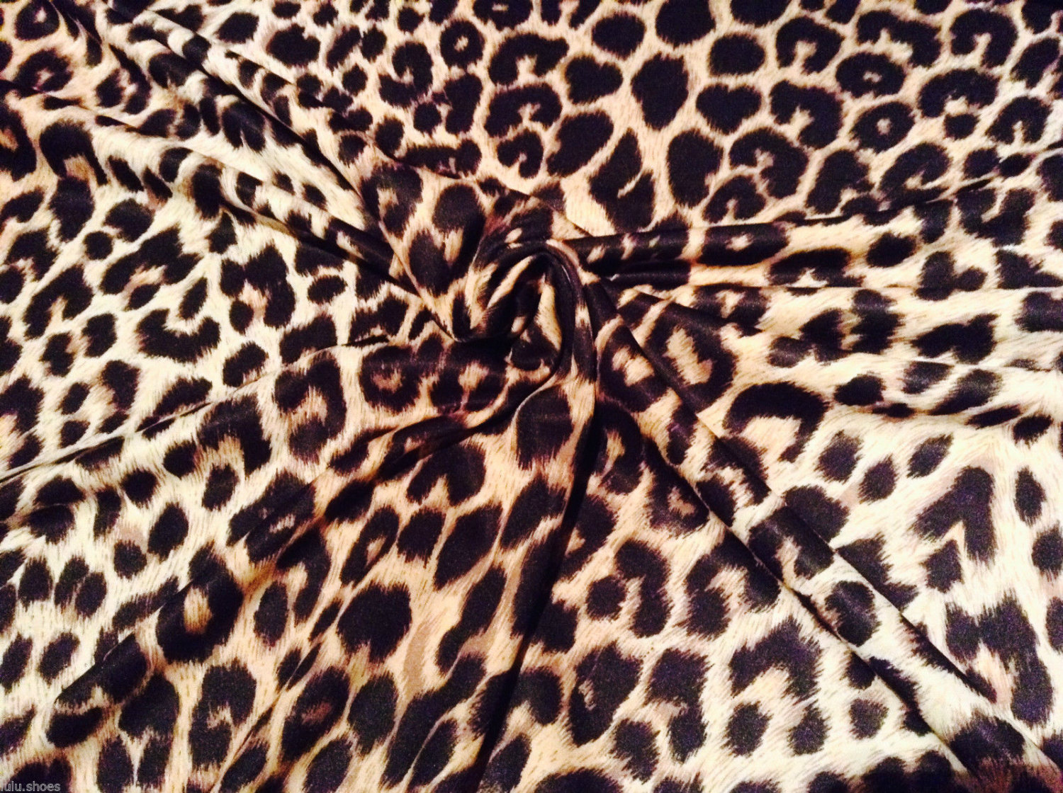 Leopard print 2 way stretch polyester lycra jersey for Designer animal print fabric
