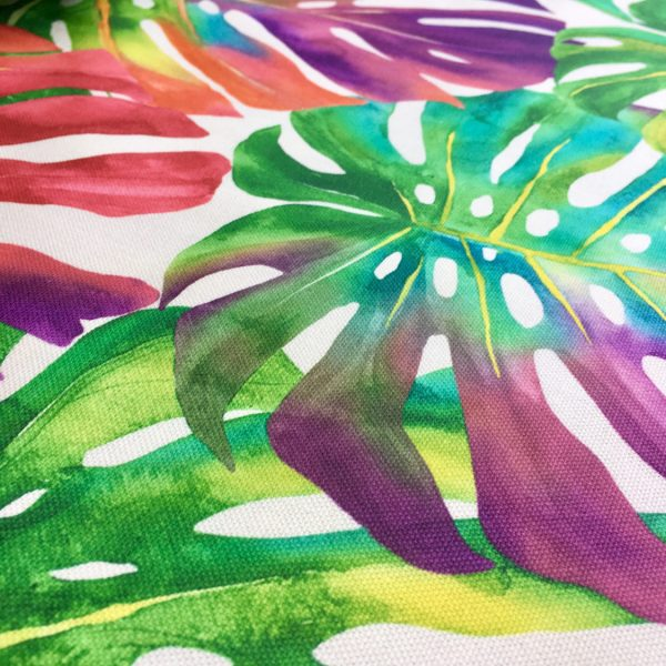 Palm Tropical Leaves Cotton Fabric Material Jungle Leaf