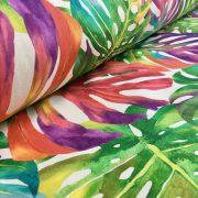 Palm Tropical Leaves Cotton Fabric Material Green Jungle