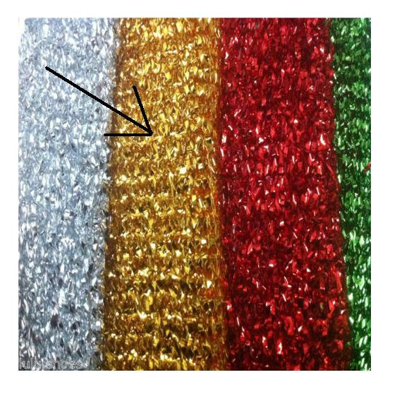 SPARKLING RED GLITTER TINSEL 4 way stretch fabric material //140cm wide