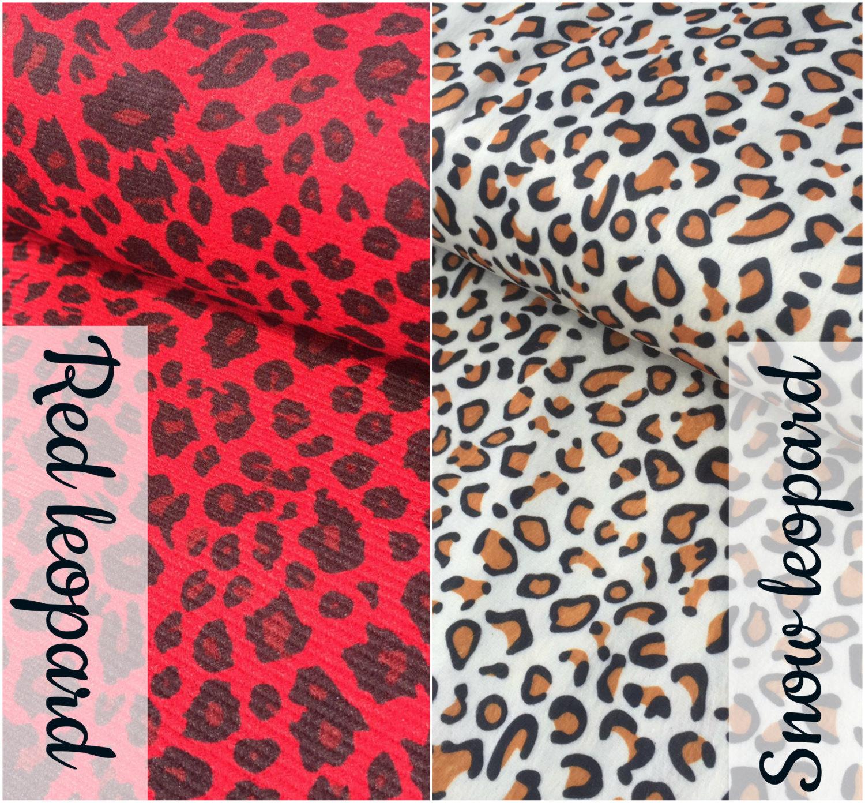 SNOW LEOPARD VELBOA FUR Animal Print Velour Fabric Material Cuddle Soft 59/' wide