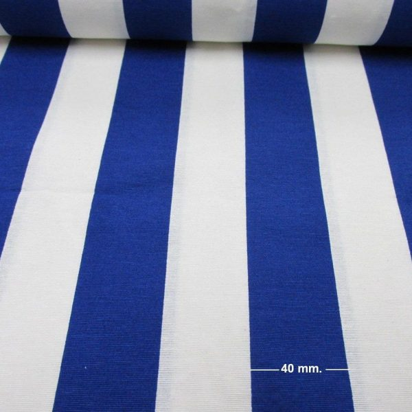 White Blue Striped Fabric Sofia Stripes Curtain Upholstery
