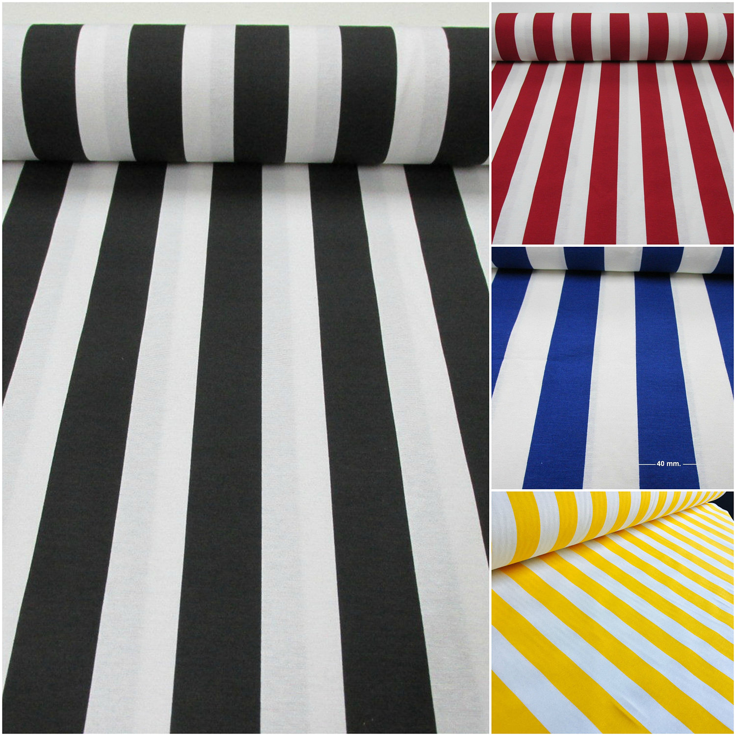 White Striped Fabric Stripes Curtain Upholstery Material 280cm