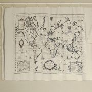 World map linen fabric world map curtain panel linen material world map linen fabric world map curtain panel gumiabroncs Images