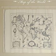World map linen fabric world map curtain panel linen material world map linen fabric world map curtain panel gumiabroncs Gallery