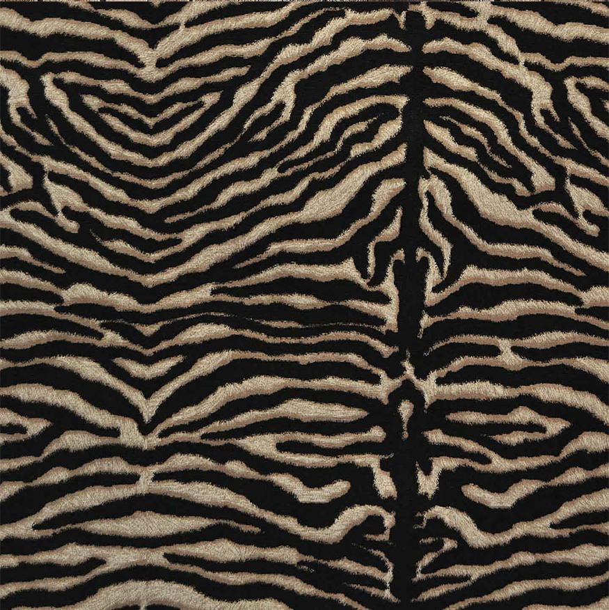 Zebra animal print designer fabric linen look upholstery for Designer animal print fabric