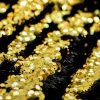 MERMAID Reversible 5mm Sequin Fabric Flip Two Tone Stretch Material - 130cm wide - Black & Gold sequins