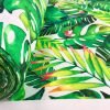 Palm Leaves 3 Tropical Leaf Fabric for Curtains Upholstery Green Cotton Material / digital print fabric / 280cm extra wide