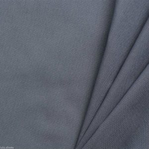 Plain Grey 100% Cotton Fabric Material for curtains dressmaking decor - Extra Wide 235cm per metre - Solid GREY cotton fabric