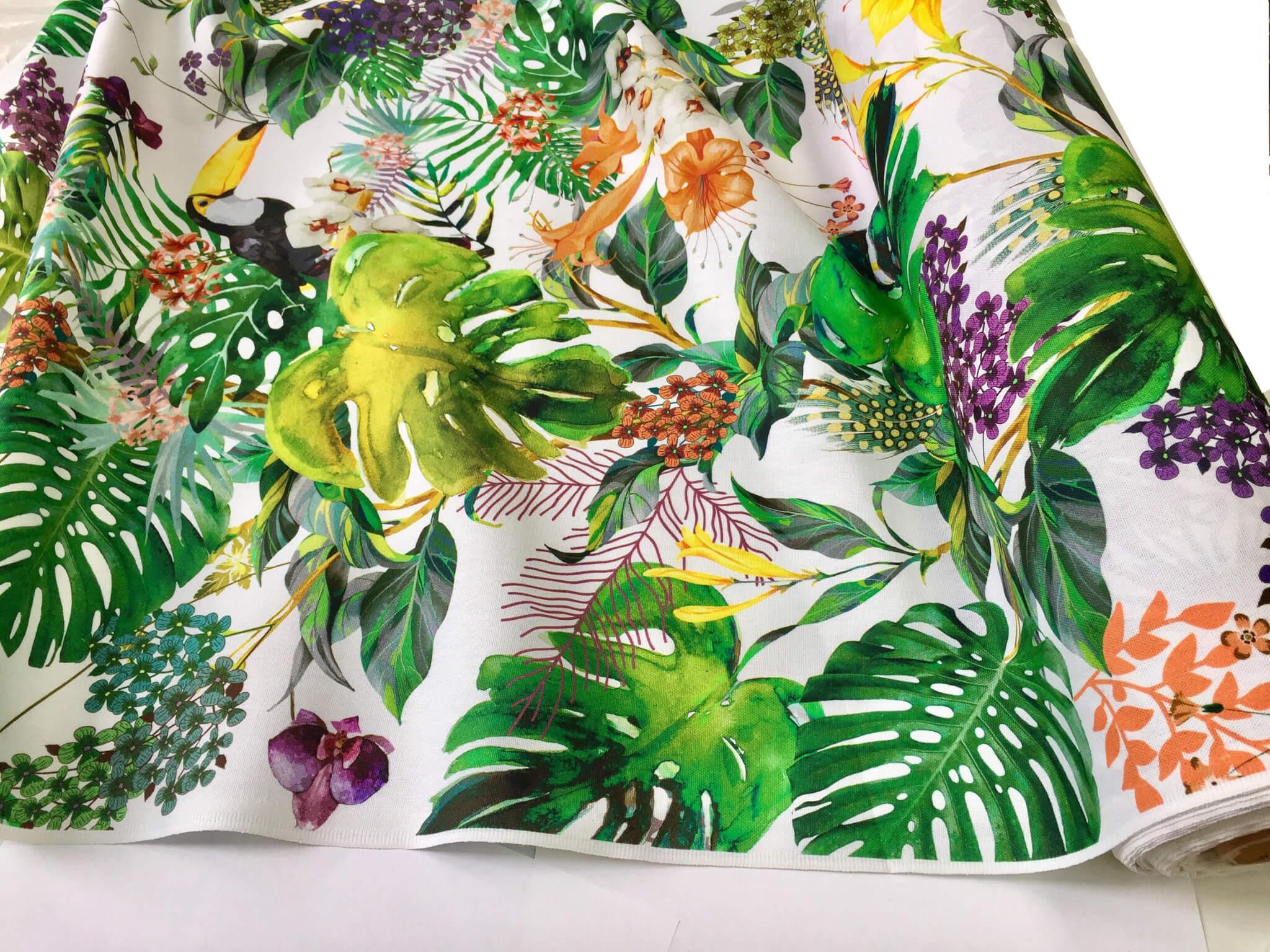 Tropical Toucan Bird Amp Garden Fabric Curtain Upholstery