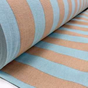 Aqua Beige Stripe Fabric Sofia Stripes Curtain Upholstery Striped Material - 280cm EXTRA WIDE