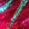 MERMAID Reversible 5mm Sequin Fabric Flip Two Tone Stretch Material - 130cm wide - Hot Pink & Blue sequins