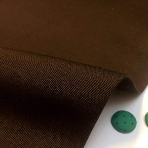 Plain Ottoman Fabric For Curtains Upholstery Cotton Canvas Material 140cm Wide BROWN