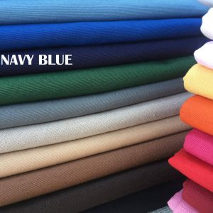 Plain Ottoman Fabric For Curtains Upholstery Cotton Canvas Material 140cm Wide NAVY BLUE