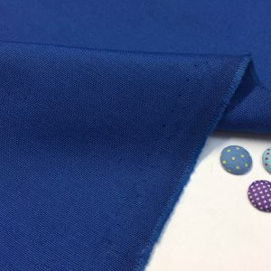 Plain Ottoman Fabric For Curtains Upholstery Cotton Canvas Material 140cm Wide ROYAL BLUE