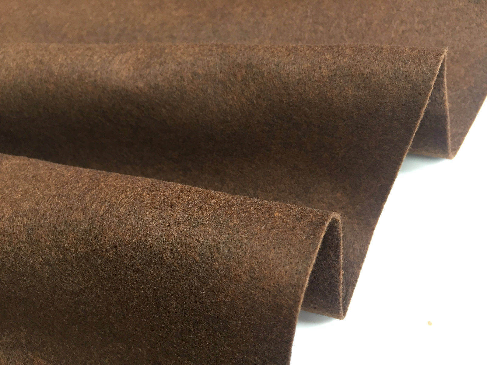 Brown Felt Fabric Material Craft Plain Colours Polyester