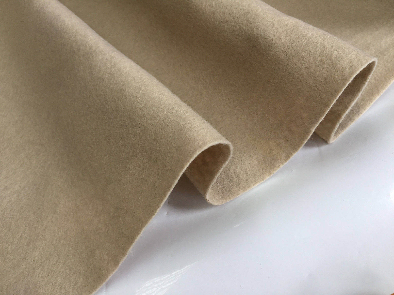 102cm wide by M FELT FABRIC Material Craft Plain Colours Polyester
