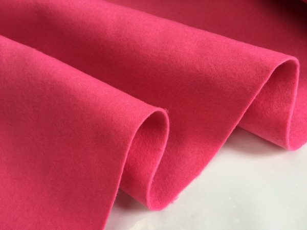 Felt Fabric Material Craft Plain Colours Polyester 102cm Wide PINK