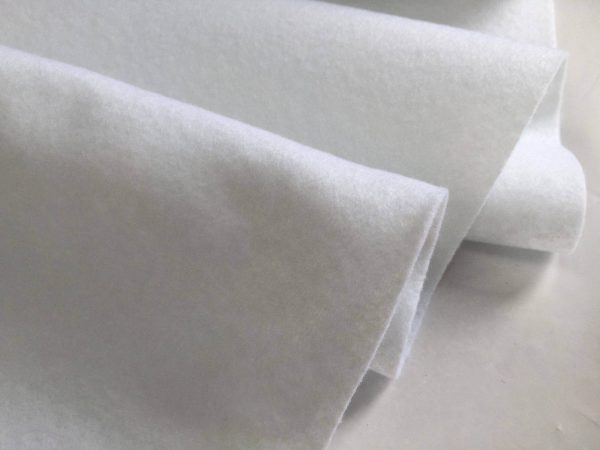 Felt Fabric Material Craft Plain Colours Polyester 102cm Wide WHITE