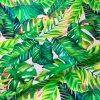 Palm Leaves 3 Tropical Leaf Print Cotton Fabric for Curtain Upholstery Material / digital print fabric / 140cm wide