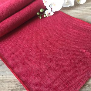 12'' wide Rustic Burlap Jute Runners For Events, Weddings, Home - Jute Hessian Table Runner - BURGUNDY RED Runner