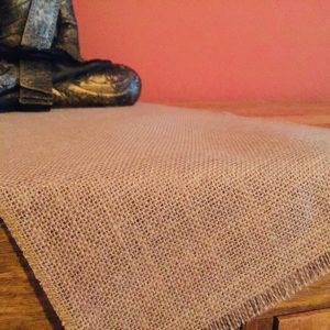 12'' wide Rustic Burlap Jute Runners For Events, Weddings, Home - Jute Hessian Table Runner - grey, cream, glitter, mustard