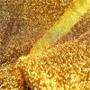 Mettalic Tinsel Lurex Fabric Material - Sparkling Striped Rasta Print Silver Gold Glitter - 150cm wide