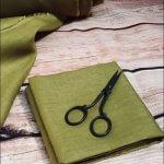 Soft Linen Fabric Material -  100% Linen for Home Decor, Curtains, Clothes - 140cm wide - Plain Khaki Green Linen