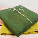 Soft Linen Fabric Material -  100% Linen for Home Decor, Curtains, Clothes - 140cm wide - Plain Mustard Yellow