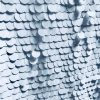 18mm Large Sequins Fabric Glitter Material, 2 way stretch / 130cm wide / Sparkling WHITE Sequin
