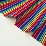 7aa1fe93d83 MULTI STRIPE Black Rainbow Jersey Knit Elastane - 4 Way Stretch Rib Cuff  Fabric - 155cm