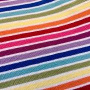 8995a4393f9 MULTI STRIPE White Rainbow Jersey Knit Elastane - 4 Way Stretch Rib Cuff  Fabric - 155cm