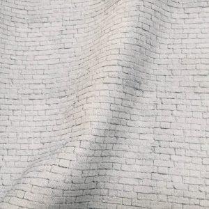 SMALL White Brick Wall Print Cotton Fabric - Stone Bricks Curtain Dress Backdrop Material - 280cm EXTRA Wide