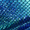 MERMAID Scale Fabric Fish Tail material - 2 W Stretch Spandex - 57''/145cm wide - BLUE