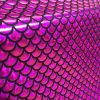 MERMAID Scale Fabric Fish Tail material Stretch Spandex -57''/145cm wide - PINK / BLACK