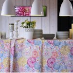 """Pink Flowers & Leaves Floral Mandala Fabric Curtain Material for Dress Decor Curtain Upholstery - 108"""" extra wide"""