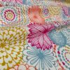 """Pink Flowers & Leaves Floral Mandala Fabric Curtain Material for Dress Decor Curtain Upholstery - 54"""" wide"""
