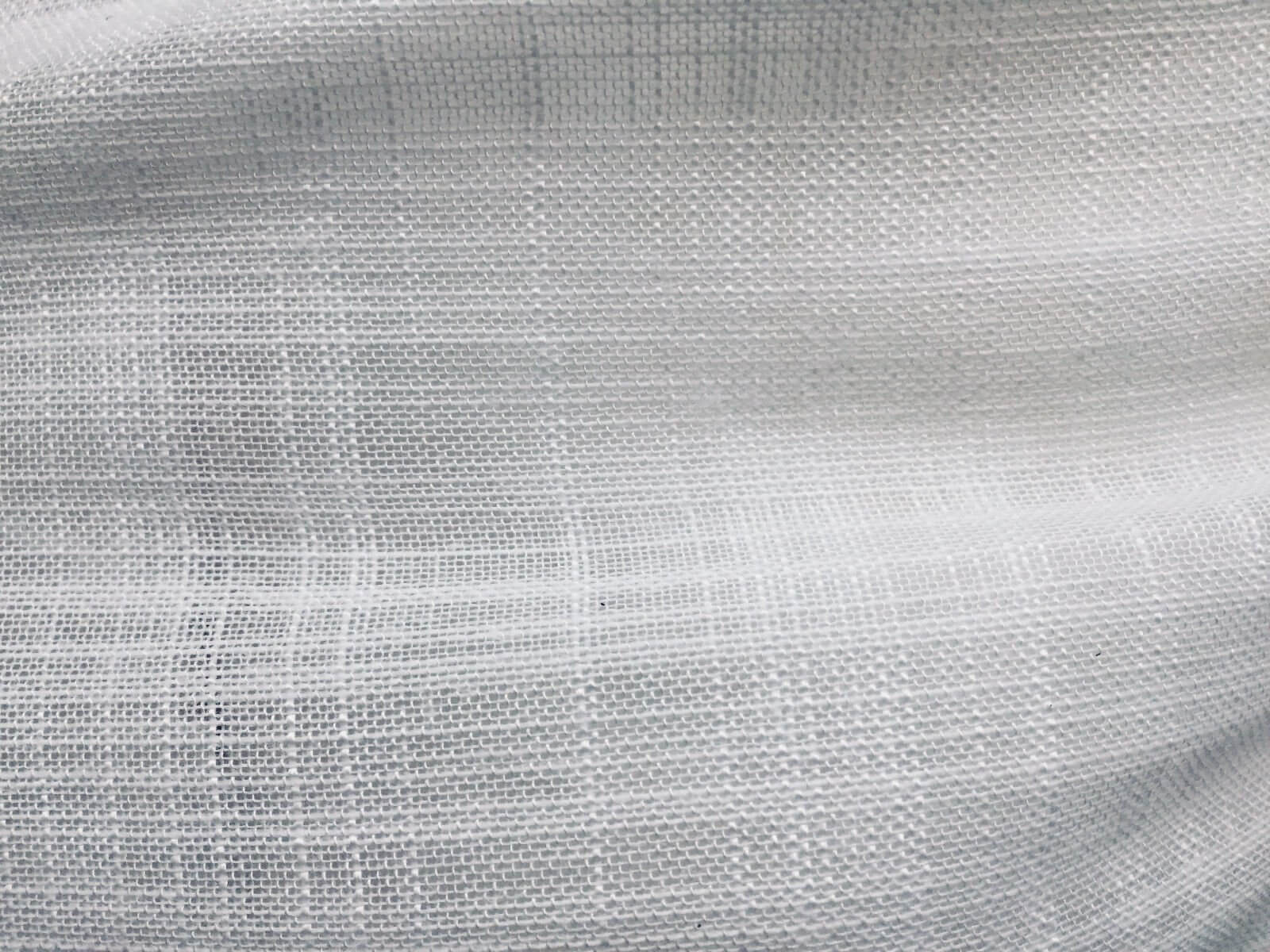 White Inbetween Voile Tulle Organza Fabric Sheer Curtain Net
