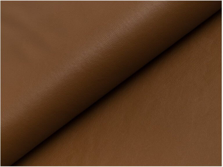 BROWN COGNAC Soft Faux Leather Viscose Back Fabric Imitation PU Leather Material for clothes upholstery decor - 145cm wide