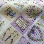 French Lavender Print Cotton Fabric Floral Curtains Upholstery - 280cm EXTRA WIDE