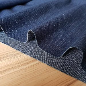 Medium Blue Denim Fabric - Denim Slub Stretch Washed Jeans Cotton Material - 140cm wide