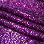 3mm Sequin Fabric - Sparkling Purple Sequins Glitter Pailettes - Wedding Decor Fish Scales Mermaid Tail - 47''/ 120cm wide