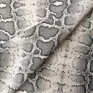 "GREY Snake Skin Fabric Snakeskin Animal Print Cotton Material DIGITAL - curtains, decor, dress, furnishing - 110""/280cm extra wide"