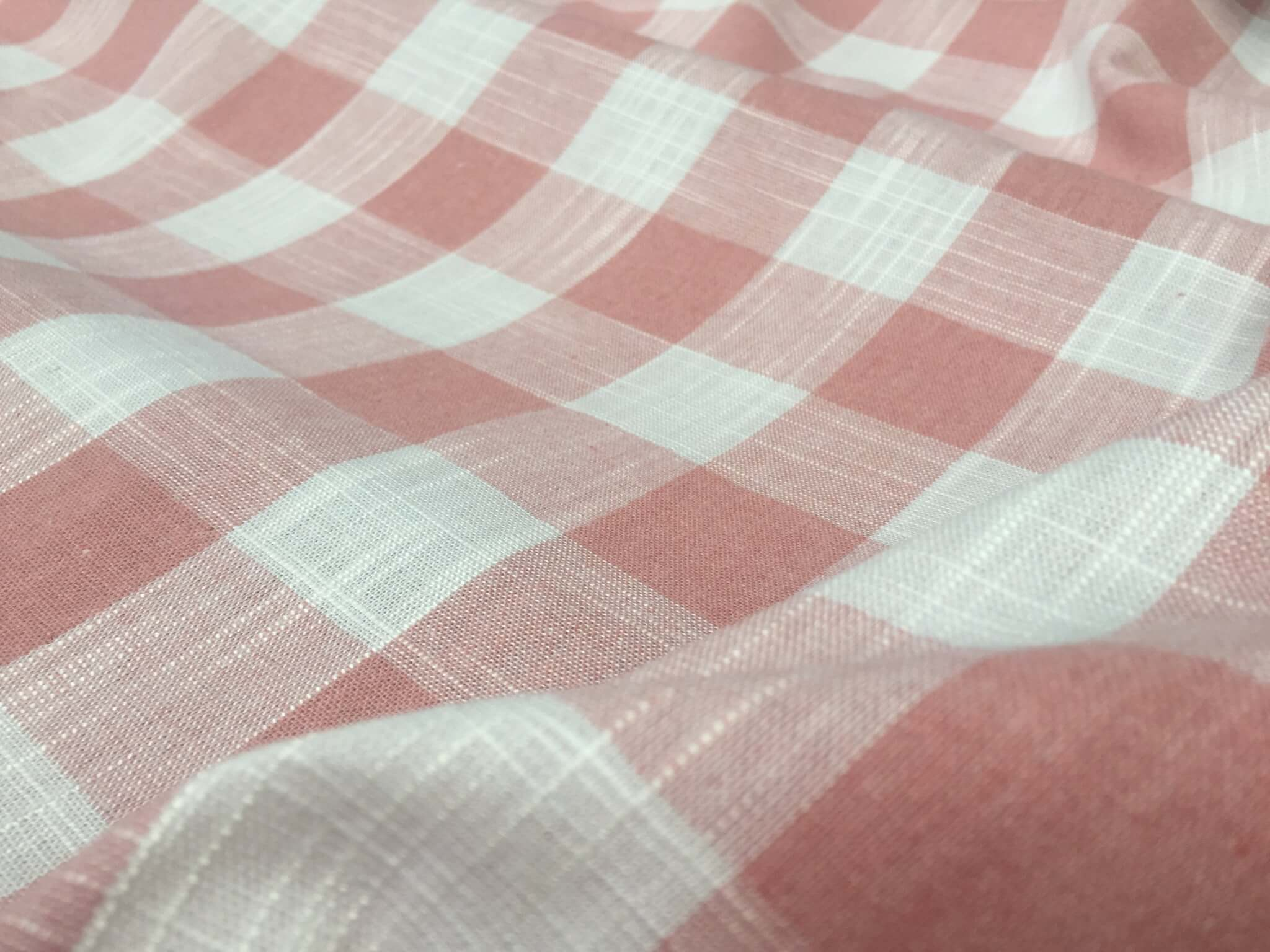 Gingham Cotton Canvas 100/% Cotton Fabric Furniture Material