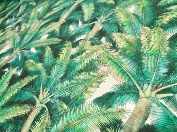 PALMS Palm Fronds Leaf Tree Fabric Tropical Leaves Material for Curtains, Upholstery, Home Decor - digital print fabric - 275cm (108'') wide