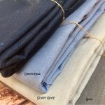 Soft Linen Fabric Material -  100% Linens for Home Decor, Curtains, Clothes - 140cm wide - Plain Silver Grey