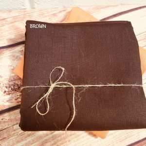 Soft Linen Fabric Material -  100% Linens Textile for Home Decor, Curtains, Clothes - 140cm wide - Plain BROWN